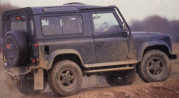 A muddy 50th Anniversary Defender 90