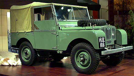 HUE 166 - The first production Land Rover